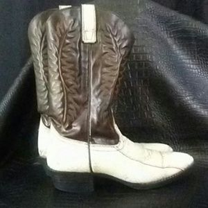 Texan Leather Snakeskin Cowboy Boots